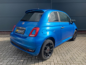 Blauwe Fiat 500 1.2 500S