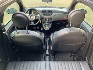 Fiat 500S interieur leder