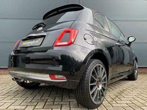 Zwarte Fiat 500 1.2 500S